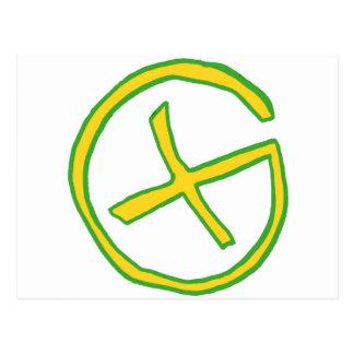 Groene Geocaching Briefkaart