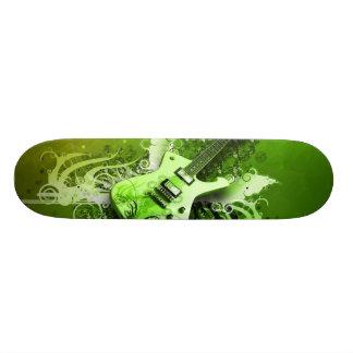 Groene Gitaar 21,6 Cm Skateboard Deck