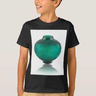 Groene het glasvaas die van het Art deco bladeren T Shirt