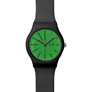 Groene het Horloge van de punt