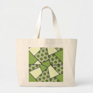 Groene het limoen van de Zak van het lapwerk Canvas Tas