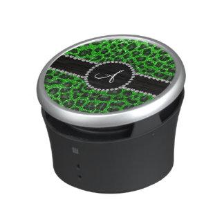 Groene het limoen van het monogram schittert speaker