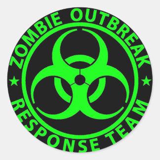 Groene het Neon van het Team van de Reactie van de Ronde Sticker