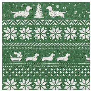 Groene het Patroon van de Sweater van Kerstmis van Stof