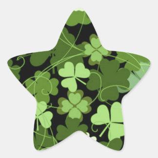Groene Ierse Klaver Ster Stickers