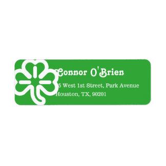 Groene Ierse St Patricks van de Klaver van de Retouretiket