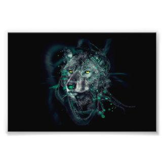 Groene Indische wolf Foto Prints