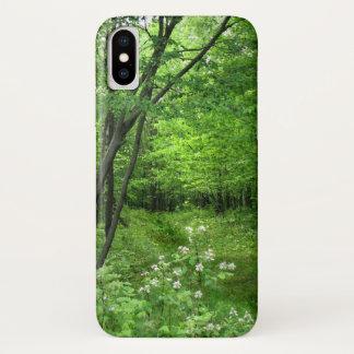 Groene iPhone X van de Wandeling van de Natuur van iPhone X Hoesje