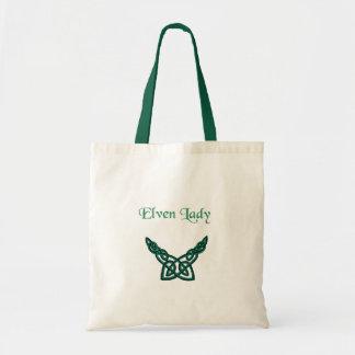 Groene Keltische Dame Elven Draagtas