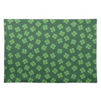 Groene Keltische Ierse Vier Doorbladerde Klavers Placemat