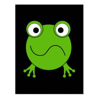 Groene Kikker. Verward het kijken Briefkaart