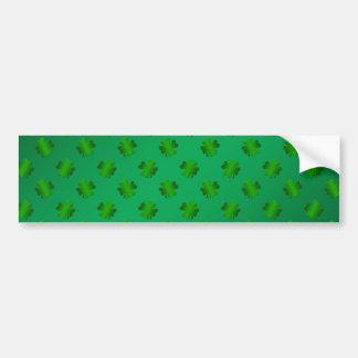 Groene klaver op groene achtergrond bumpersticker