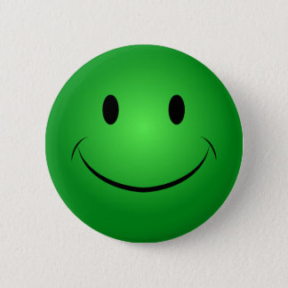 Groene Knoop Smiley Ronde Button 5,7 Cm