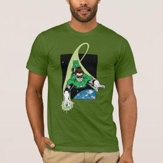 Groene Lantaarn en Aarde T Shirt