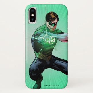 Groene Lantaarn & Gloeiende Ring iPhone X Hoesje