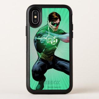Groene Lantaarn & Gloeiende Ring OtterBox Symmetry iPhone X Hoesje