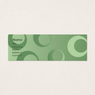 Groene Magere Cirkels - Mini Visitekaartjes