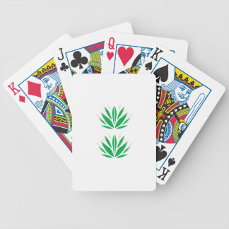 Groene mandala op wit pak kaarten