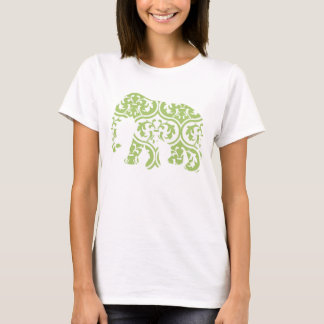 Groene Marokkaanse Olifant T Shirt