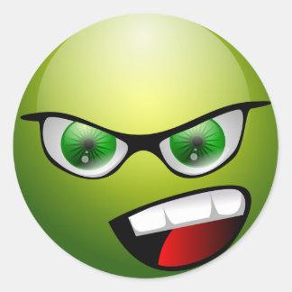 Groene Meanie van Screamin Ronde Sticker