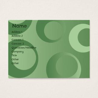 Groene Mollige Cirkels - Visitekaartjes