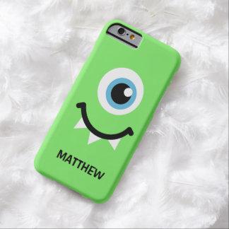 Groene monster gepersonaliseerde naam barely there iPhone 6 hoesje