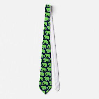Groene olifant stropdassen