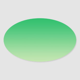 Groene Ombre Ovale Sticker