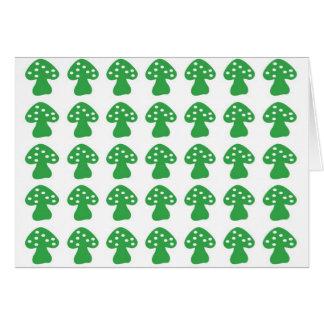 Groene paddestoel notitiekaart