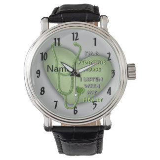 Groene Pediatrische Verpleegster Horloges
