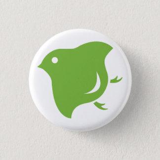 groene plevierknoop ronde button 3,2 cm