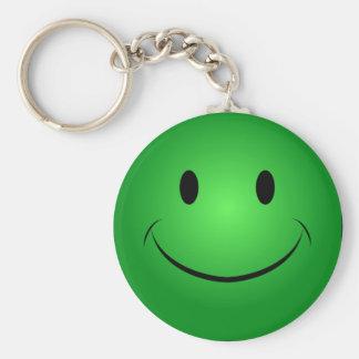 Groene Smiley Keychain Sleutelhanger