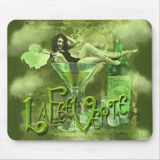 Groene Splashy Collage I van de Fee Muismat