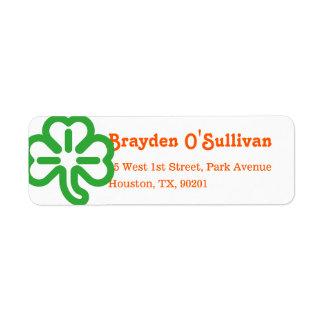 Groene St Patricks van de Kleuren van de Klaver Retouretiket