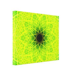 Groene Ster Canvas Afdruk