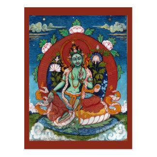 Groene Tara Tibetan Godin van Medeleven Briefkaart