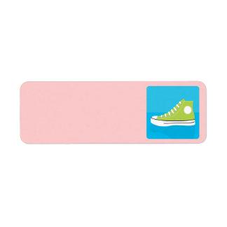 Groene Tennisschoen Etiket