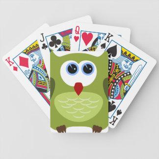 Groene uil pak kaarten