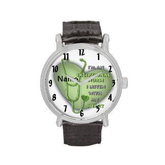 Groene Uitzonderlijke Verpleegster Horloge