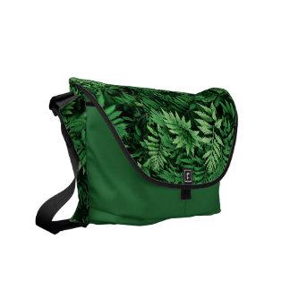Groene Varens van de BosZak: Design door Natuur Messenger Bag