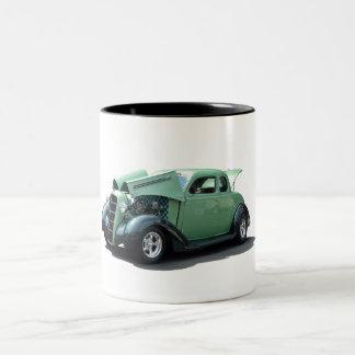 Groene Vintage Hete Staaf Tweekleurige Koffiemok