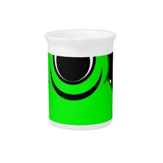 Groene Vreemde Tekening Bier Pitcher