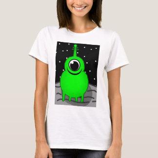Groene Vreemde Tekening T Shirt