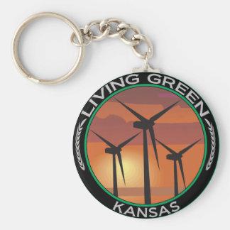 Groene Wind Kansas Sleutelhanger