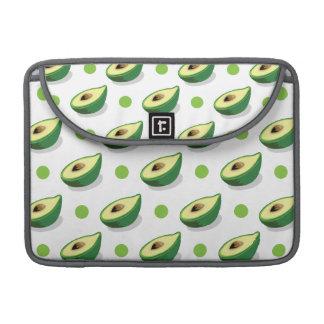 Groene & Witte Avacado, het Patroon van de Stip MacBook Pro Beschermhoes