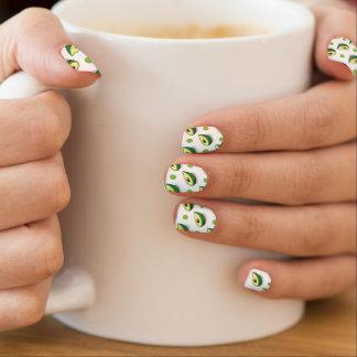 Groene & Witte Avacado, het Patroon van de Stip Minx Nail Folie