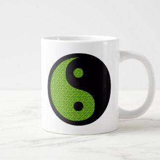 Groene Yin Yang Grote Koffiekop