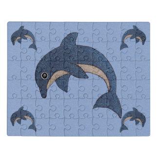 Groep die de Blauwe Witte Dolfijnen van de