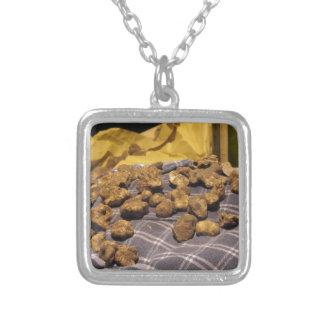 Groep Italiaanse dure witte truffels Zilver Vergulden Ketting