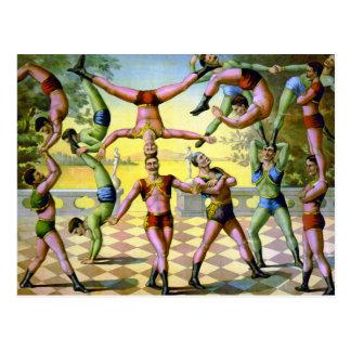 Groep van Mannelijke Acrobaten Briefkaart